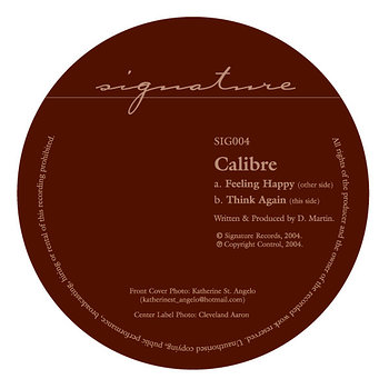 Cover art - Calibre: Feeling Happy / Think Again