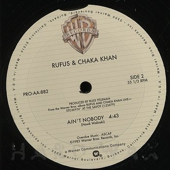 Cover art - Rufus And Chaka Khan: Ain't Nobody