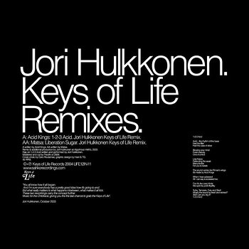 Cover art - Jori Hulkkonen: Keys of Life Remixes