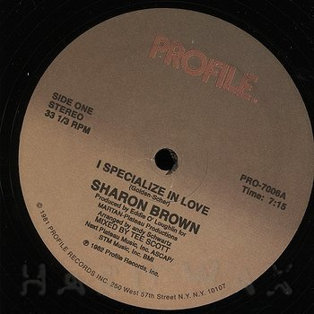 Cover art - Sharon Brown: I Specialize In Love