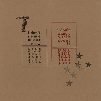 Cover art - John Bender: I Don't Remember Now / I Don't Want To Talk About It