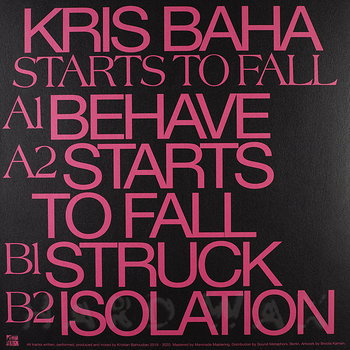 Cover art - Kris Baha: Starts To Fall