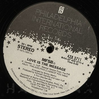 Cover art - MFSB: Love Is The Message