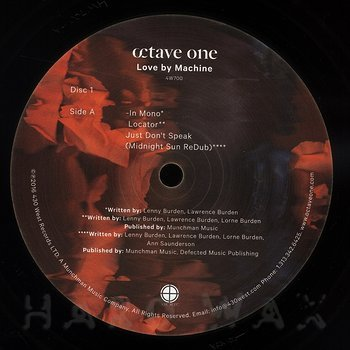 Cover art - Octave One: Love By Machine