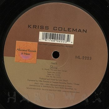 Cover art - Kriss Coleman: Shine