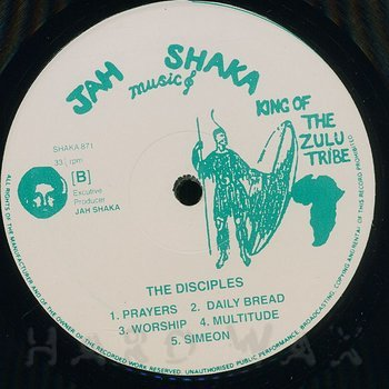 Cover art - Jah Shaka: The Disciples