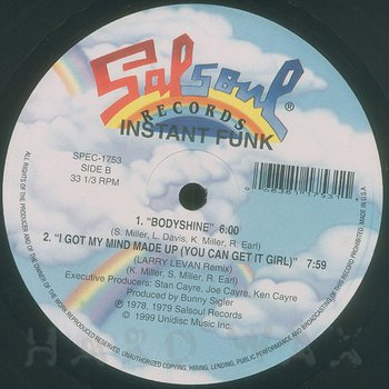 Cover art - Instant Funk: I Got My Mind Made Up