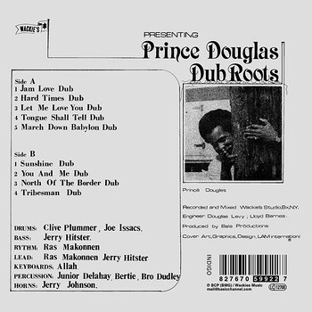 Cover art - Prince Douglas: Dub Roots