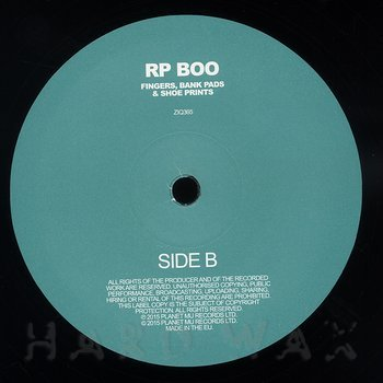 Cover art - RP Boo: Fingers, Bank Pads & Shoe Prints