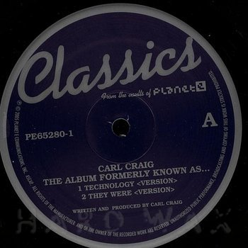 Cover art - Carl Craig: The Album Formerly Known As..