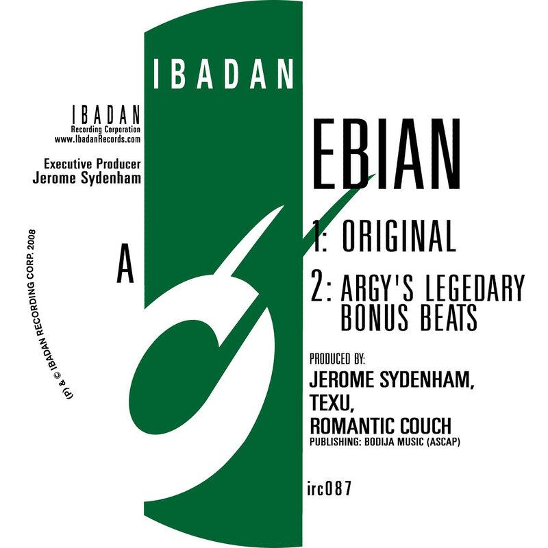 Cover art - Jerome Sydenham: Ebian