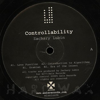 Cover art - Zachary Lubin: Controllability