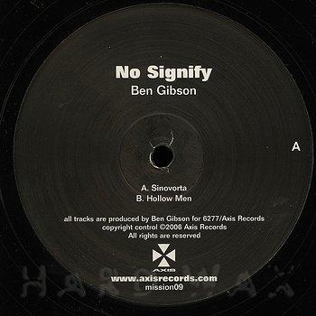 Cover art - Ben Gibson: No Signify