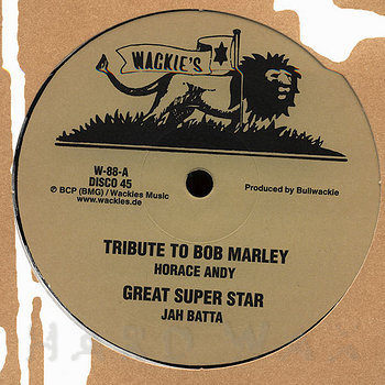 Cover art - Horace Andy: Tribute To Bob Marley