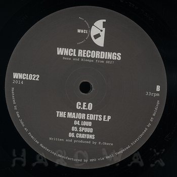 Cover art - C.E.O: The Major Edits EP