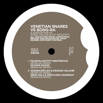 Cover art - Venetian Snares vs. Bong-Ra: 4 Adaptions Of Rossz Csillag...