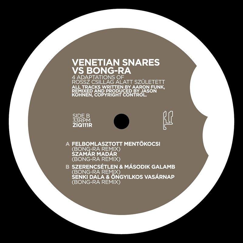 Cover art - Venetian Snares vs. Bong-Ra: 4 Adaptions Of Rossz Csillag...