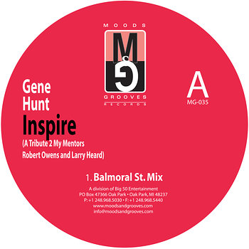 Cover art - Gene Hunt: Inspire