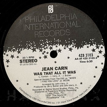 Cover art - Jean Carn: Was That All It Was