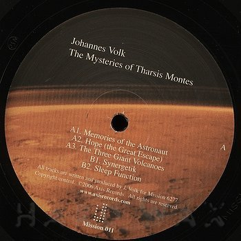 Cover art - Johannes Volk: The Mysteries Of Tharsis Montes