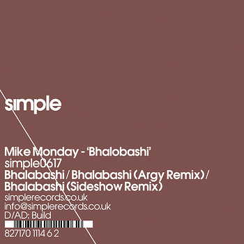Cover art - Mike Monday: Bhalobashi