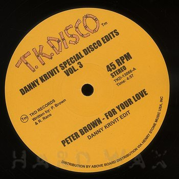 Cover art - Peter Brown / Jimmy McGriff: Danny Krivit Special Disco Edits Vol. 3