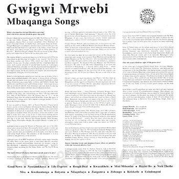 Cover art - Gwigwi Mrwebi: Mbaqanga Songs