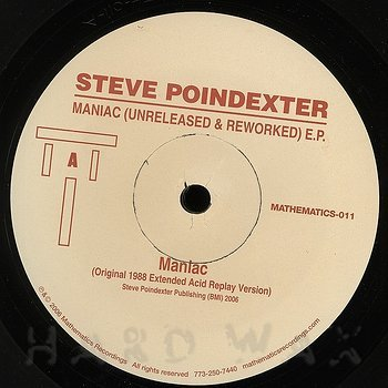 Cover art - Steve Poindexter: Maniac (Unreleased & Reworked) EP