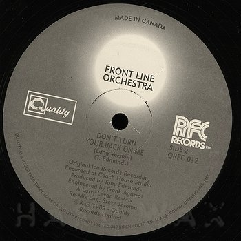 Cover art - Front Line Orchestra: Don't Turn Your Back On Me