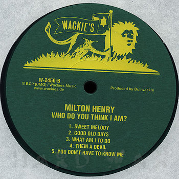 Cover art - Milton Henry: Who Do You Think I Am?