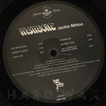 Cover art - Jackie Mittoo: Wishbone
