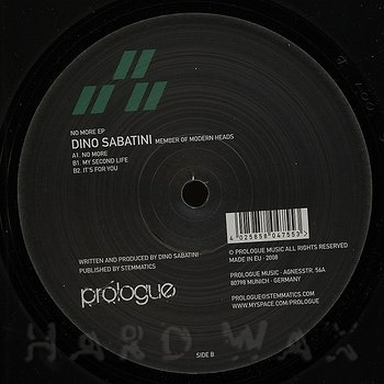 Cover art - Dino Sabatini: No More EP