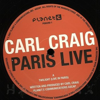 Cover art - Carl Craig: Paris Live