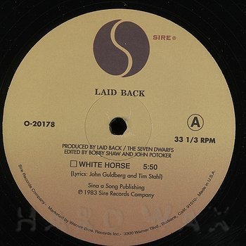 Cover art - Laid Back / Soft Cell: White Horse