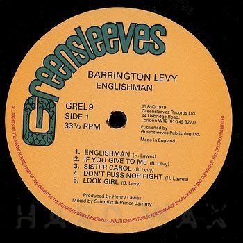 Cover art - Barrington Levy: Englishman