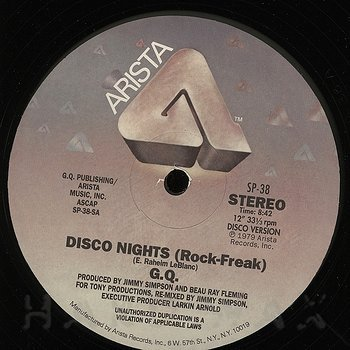 GQ - Disco Nights (Rock Freek) / Boogie Oogie Oogie