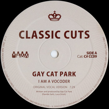 Cover art - Gay Cat Park: I Am A Vocoder