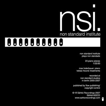 Cover art - NSI: Plays Non Standards