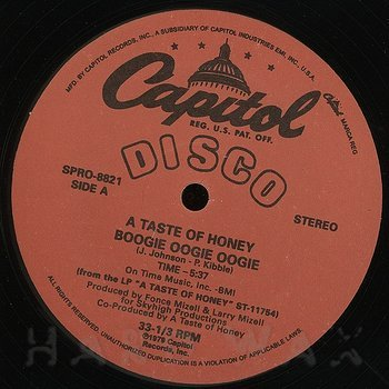 Cover art - A Taste Of Honey: Boogie Oogie Oogie