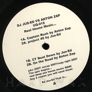 Cover art - DJ Jus-Ed vs. Anton Zap: Real House Music...