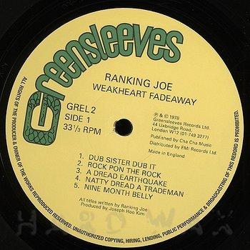 Cover art - Ranking Joe: Weakheart Fadeaway