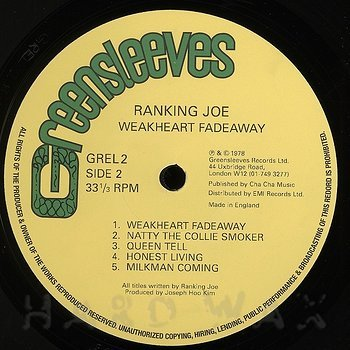 Cover art - Ranking Joe: Weakheart Fadeaway