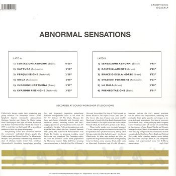 Cover art - Braen, Raskovich: Abnormal Sensations