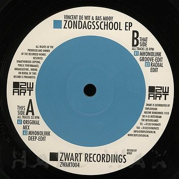 Cover art - Vincent De Wit & Bas Mooy: Zondagsschool EP