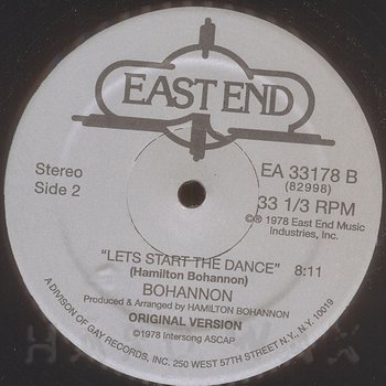 Cover art - Bohannon: Let's Start The Dance