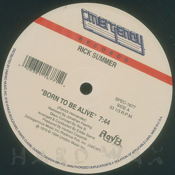 Cover art - Rick Summer: Born To Be Alive