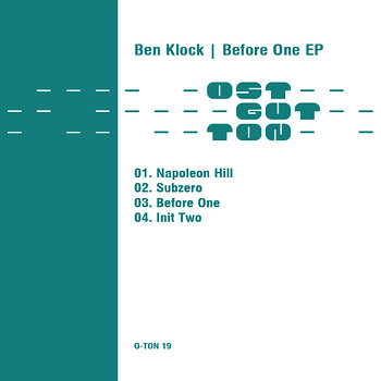 Cover art - Ben Klock: Before One