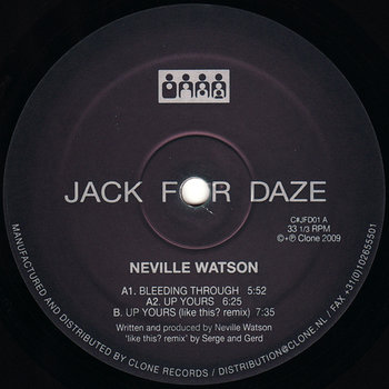Cover art - Neville Watson: Bleeding Through
