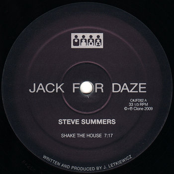 Cover art - Steve Summers: Shake The House