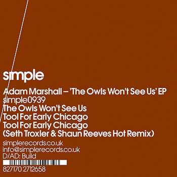 Cover art - Adam Marshall: The Owls Won't See Us EP